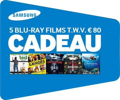 5 films t.w.v. 80,- euro