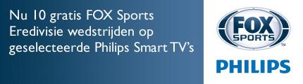 Philips actie: Nu 10 gratis FOX Sports Eredivisie wedstrijden op geselecteerde Philips Smart TV's