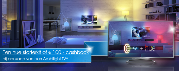 Philips TV Hue Starterkit promotie