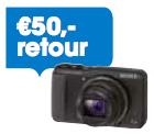 50,- retour bij aankoop van een Sony Cyber-shot actiemodel