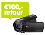 100,- retour bij aankoop van een Sony Handycam actiemodel