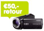 50,- retour bij aankoop van een Sony Handycam actiemodel