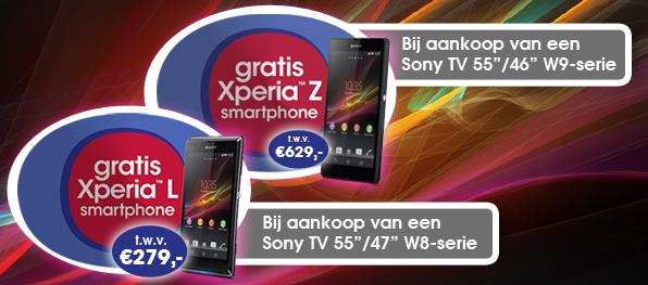 Gratis Xperia bij aankoop van een Sony TV