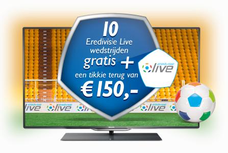 Philips actie 150 euro cashback 10 gratis wedstrijden